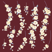 Japanese style cherry tree