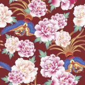 Japanese style peony pattern