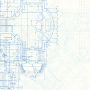 A blueprint background of an architectural plan