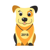 Year of the yellow dog on the Chinese lunar calendar 2018