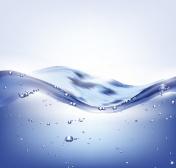 Big vector blue water wave