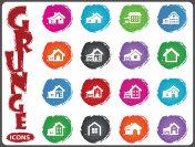 house type icon set