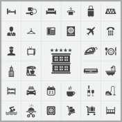 hotel icons universal set