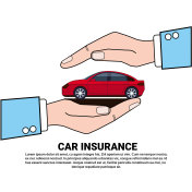 Car Insurance Service Icon Automobile Protection And Safety Icon