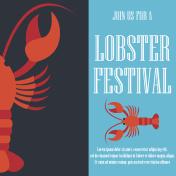 lobster poster for lobster festival . vector illustration