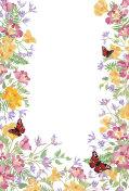 Floral background. Decorative summer flower frame. Tropical bouq