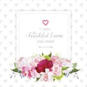 Square floral vector design frame