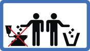 Do not throw litter in toilet