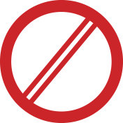 Sign ban, prohibition, No Sign,