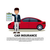 Car Insurance Service Concept Agent Hold Form Document Safety Auto Protection