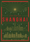 Linear Happy New Year Shanghai Poster Design