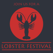 lobster poster for lobster festival . vector illustration
