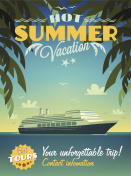 Hot summer vacation poster