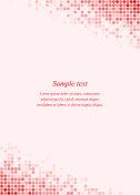Red page corner design template