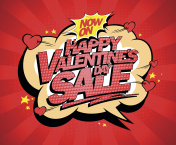 Happy Valentines day sale poster concept