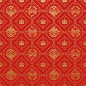 Chinese style wallpaper, red background, vector image