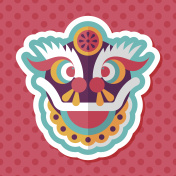 Chinese New Year flat icon with long shadow,eps10,