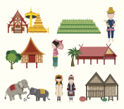 The Northern Thailand travel elements