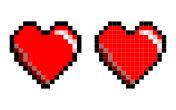 Pixel Art Heart Shape