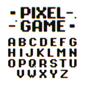 Pixel Game retro style font