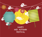 Mid Autumn Festival background with lantern