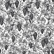 Seamless pattern with grape vine.