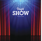 Bright show poster design template