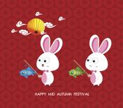 Lantern Rabbits of Mid Autumn Festival