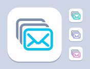 Mail Stack - Neon Duo Icons