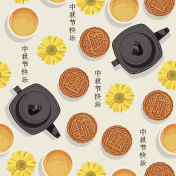 Seamless pattern with for mid-autumn festival.