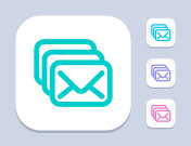 Mail Stack - Neon Icons