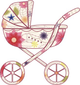 Baby carriage for girl