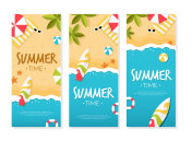 Summer Time on Beach Banner