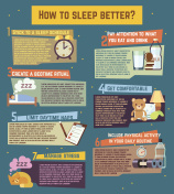 How to sleep better. Vector infographics