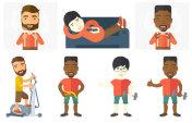 Vector set of sport characters