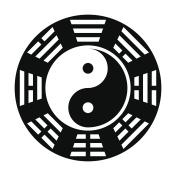 Yin and yang symbol. Modern yin-yang symbol