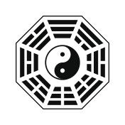 Vector Yin and yang symbol.