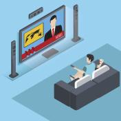 watching tv isometrik