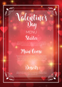 Valentine's Day menu design
