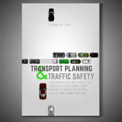 City traffic poster