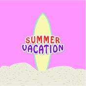 Summer vacation text design