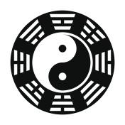 Yin and yang symbol.