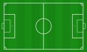 Illustration of a soccer field. Football field or soccer field background