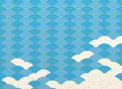 Qinghai wave pattern. Japanese background material.