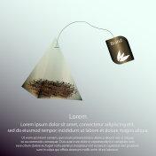 Tea bag pyramid