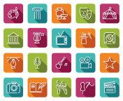 Arts and Entertainment icon set