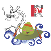 Dragon boat racing festival promotion illustration.