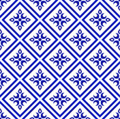 blue and white pattern vector