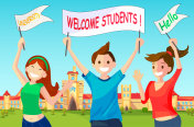 Welcome New Students to University.