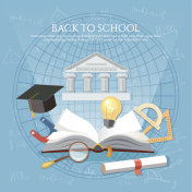 Education. Open book of knowledge school background education concept